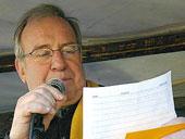 Stankowski auf der Demonstration 'Kein Krieg im Irak' (2003)